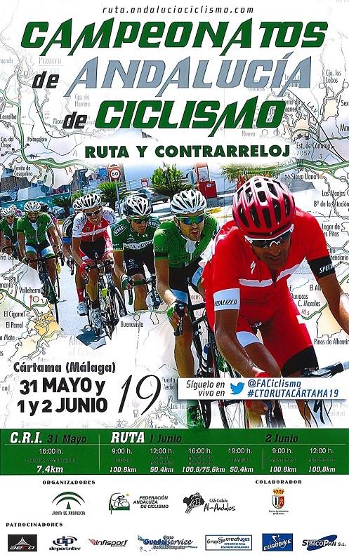 Campeonato andalucía ciclismo ruta y cri 2019 cártama
