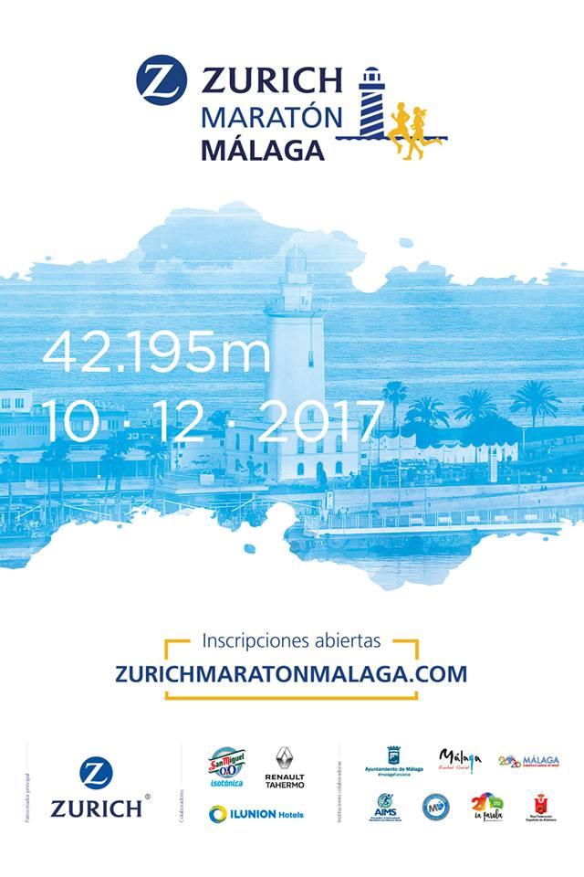 Cartel Zurich Maratón de Málaga 2017
