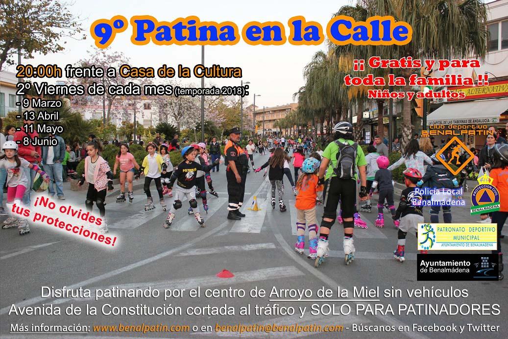 Cartel Patina en la Calle Benalmádena 2018