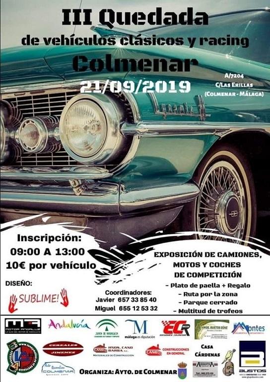 III Quedada Vehículos Clásicos y Racing Colmenar 21 septiembre 2019