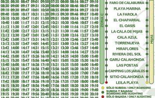 M-220 Fuengirola-Las Lagunas-Marbella a partir 1 noviembre 2019  Ida