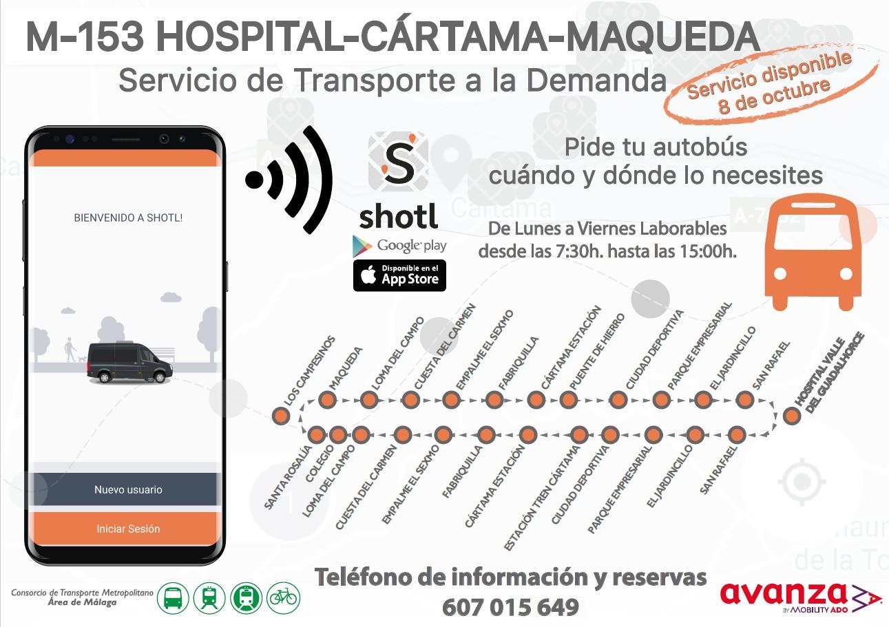 Transporte a la demanda Hospital Cártama