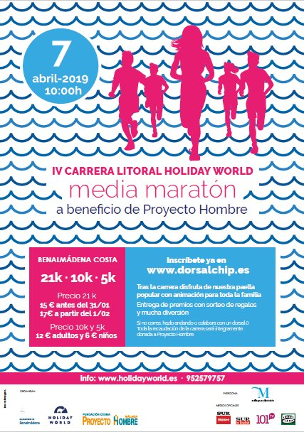 IV carrera Holiday World domingo 7 abril